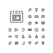 Soccer / football linear icons to use in web and mobile app.