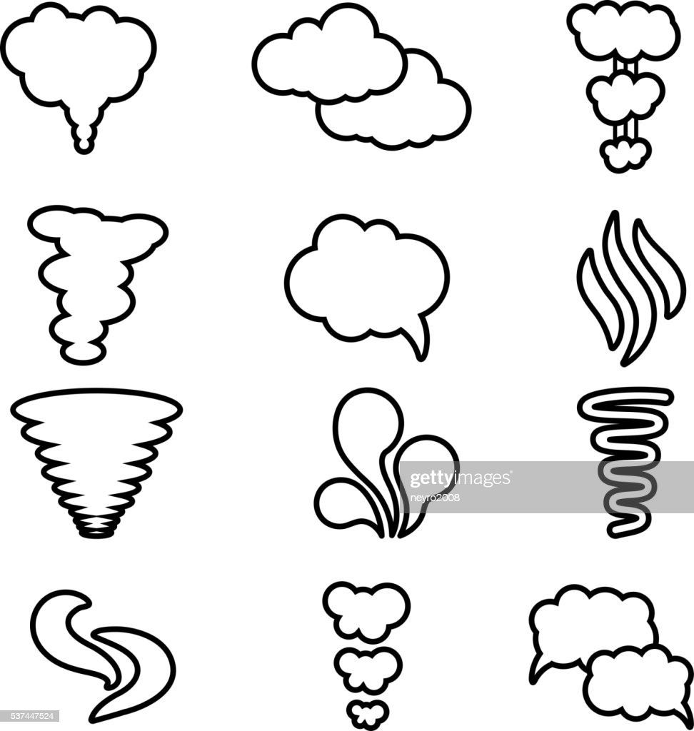 Steam Cloud Art Black And White Wiring Diagrams