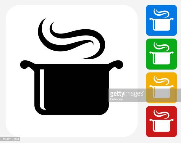 Pot à vapeur emblématique conception graphique