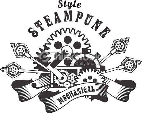 Steampunk Badge Vector Art | Thinkstock