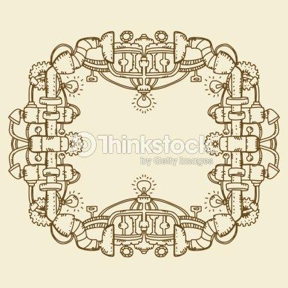 Steampunk Frame Vector Art | Thinkstock