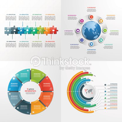 8 steps vector infographic templates business concept ベクトルアート