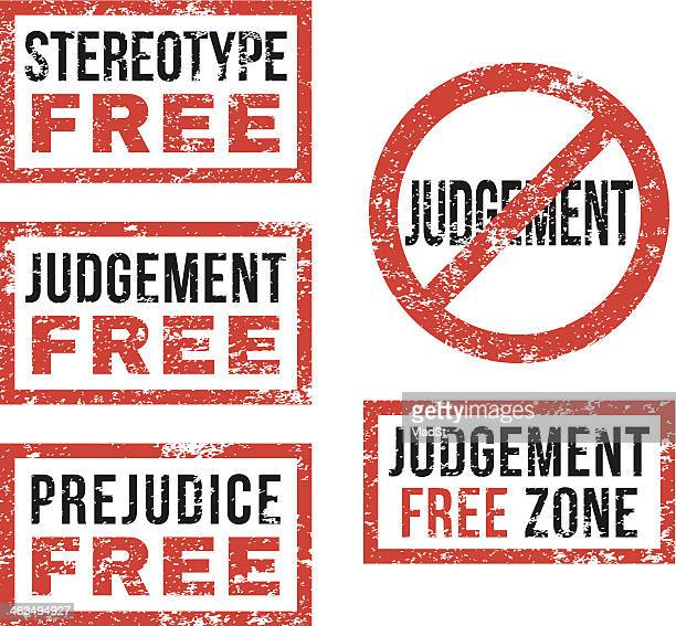 Stereotype judgement free - Rubber stamps