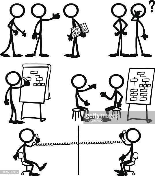Stick Figure People Business Strategy