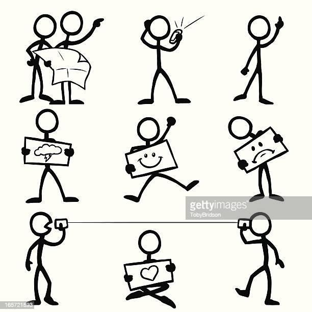 Stick Figure People Communication