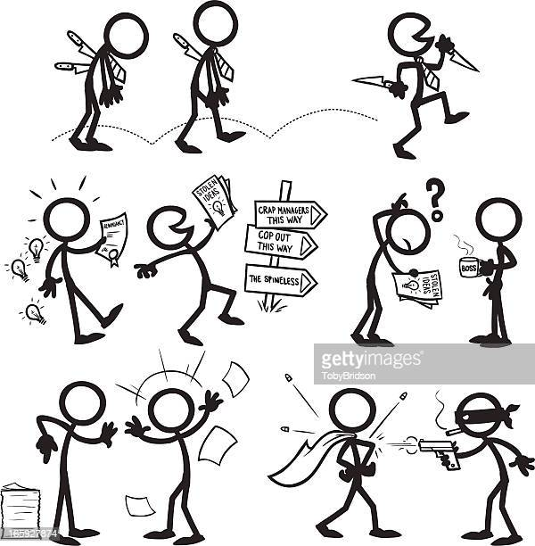 Stick Figure People confrontation