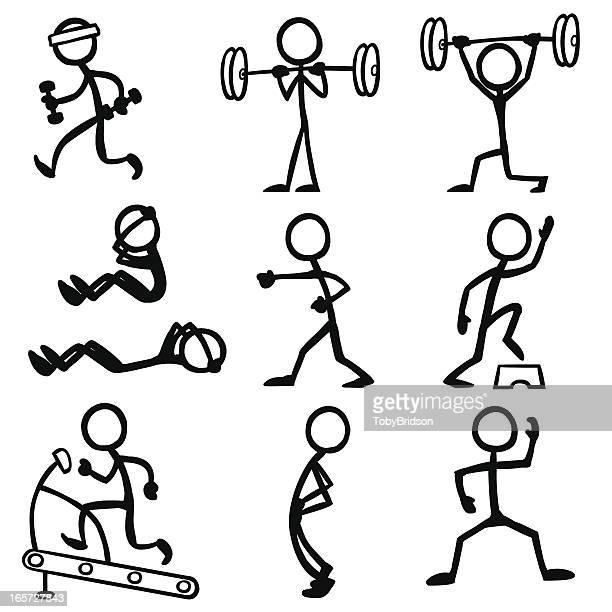 Stick Figure People Fitness