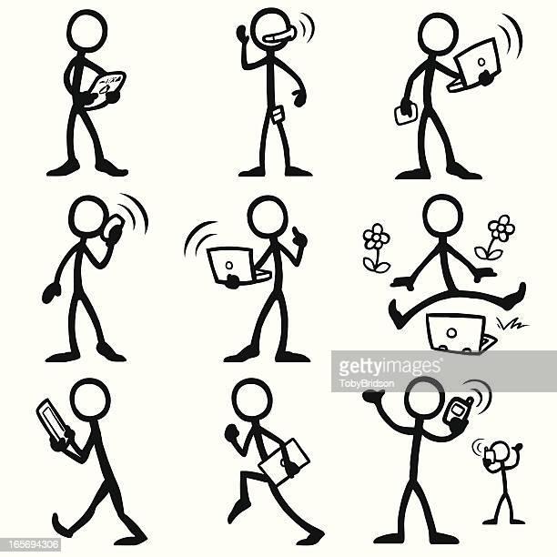 Stick Figure People mobile computing