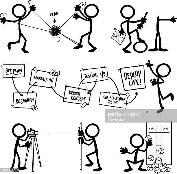 Stick Figure People Planning