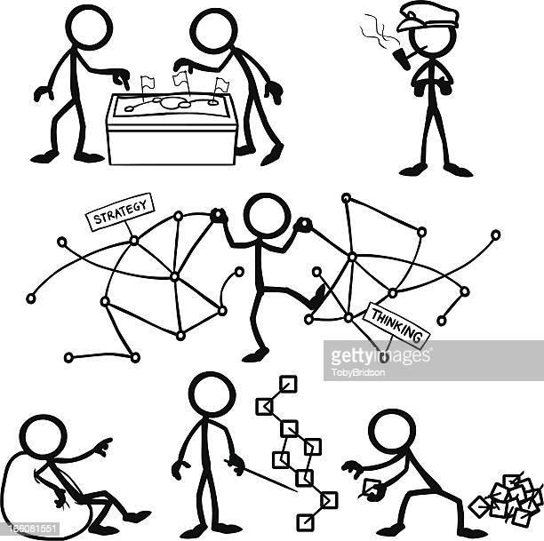 Stick Figure People Strategic Thinking