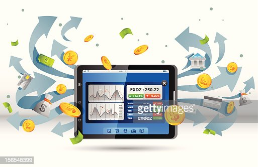 Stock Apps For Tablet Pc Vector Art Getty Images