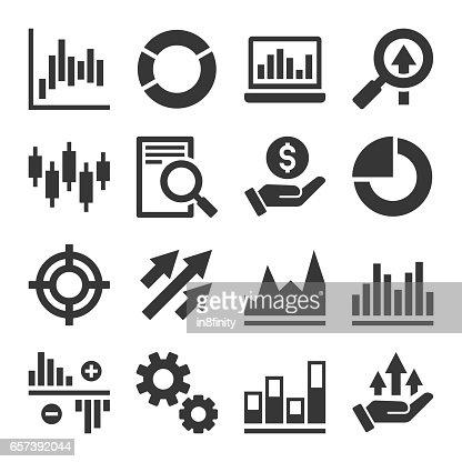 Stock Market Trading Icons Set. Vector : stock vector