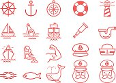 Stock Vector Illustration: Nautical icons