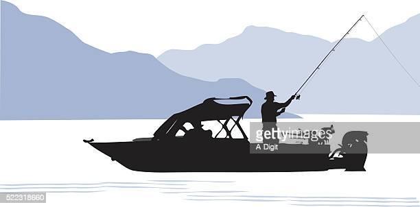 Stocked Lake And Fishing Boat