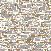 Stone Block Wall, Background of wild bricks. Red, grey, yellow, brown, sand pieces. Seamless pattern. Vintage and comfortable. For , textures, advertising, interiors, indoor and outdoor design, garden
