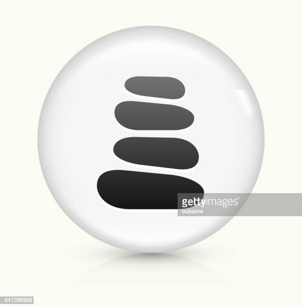 Stone Path icon on white round vector button