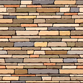 Vector seamless illustration of a stone wall