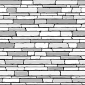 Vector illustration of seamless stone wall