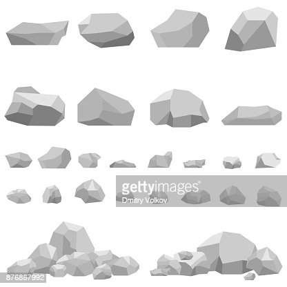 Stones, large and small stones, a set of stones. : stock vector