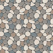 Stones seamless pattern. Vector seamless background with smooth pebble. Natural colors seaside wet pebble vector illustration. Spa stones flat design.