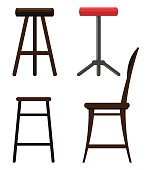 Illustration of different kind of chairs