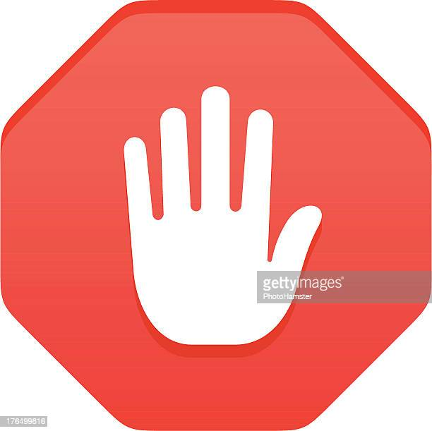 stop gesture stock illustrations and cartoons