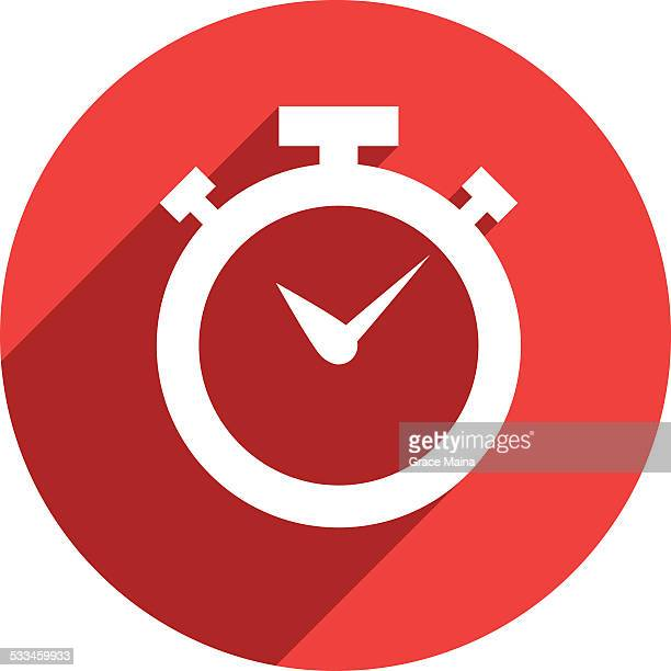 Stopwatch Flat Icon - VECTOR