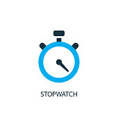 Stopwatch icon. Logo element illustration. Stopwatch symbol design from 2 colored collection. Simple Stopwatch concept. Can be used in web and mobile.