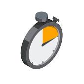 Stopwatch isometric illustration