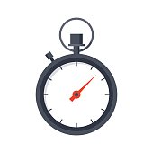 Stopwatch, vector illustration in trendy flat style