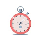Vector illustration of a stopwatch for sports. Icon for web site