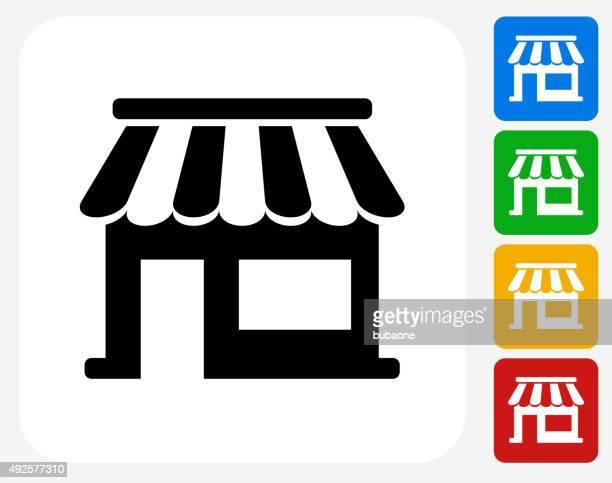 Store Icon Flat Graphic Design