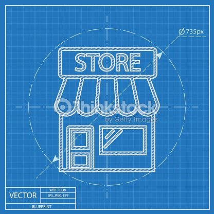 Store vector blueprint icon vector art thinkstock store vector blueprint icon vector art malvernweather Gallery