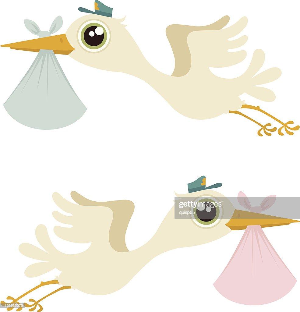 Storks : Vector Art