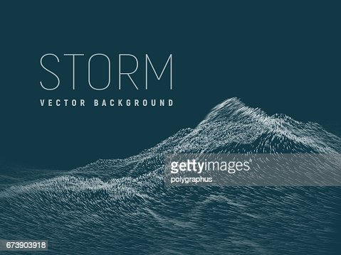 Storm. Vector background : Vector Art