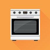 Illustration of stove gas oven design icon