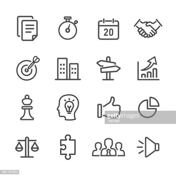 Strategie und Business Icons Set - Line Serie
