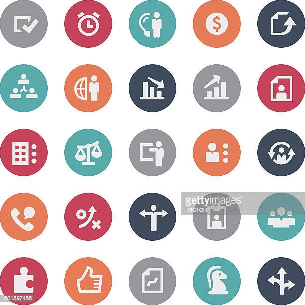 Strategy and Human Resource Icons - Bijou Series