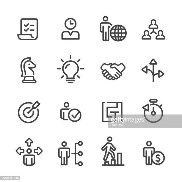 Strategy and Management Icons Set - Line Series