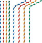 Straw for beverage colorful vector illustration isolated on a white background