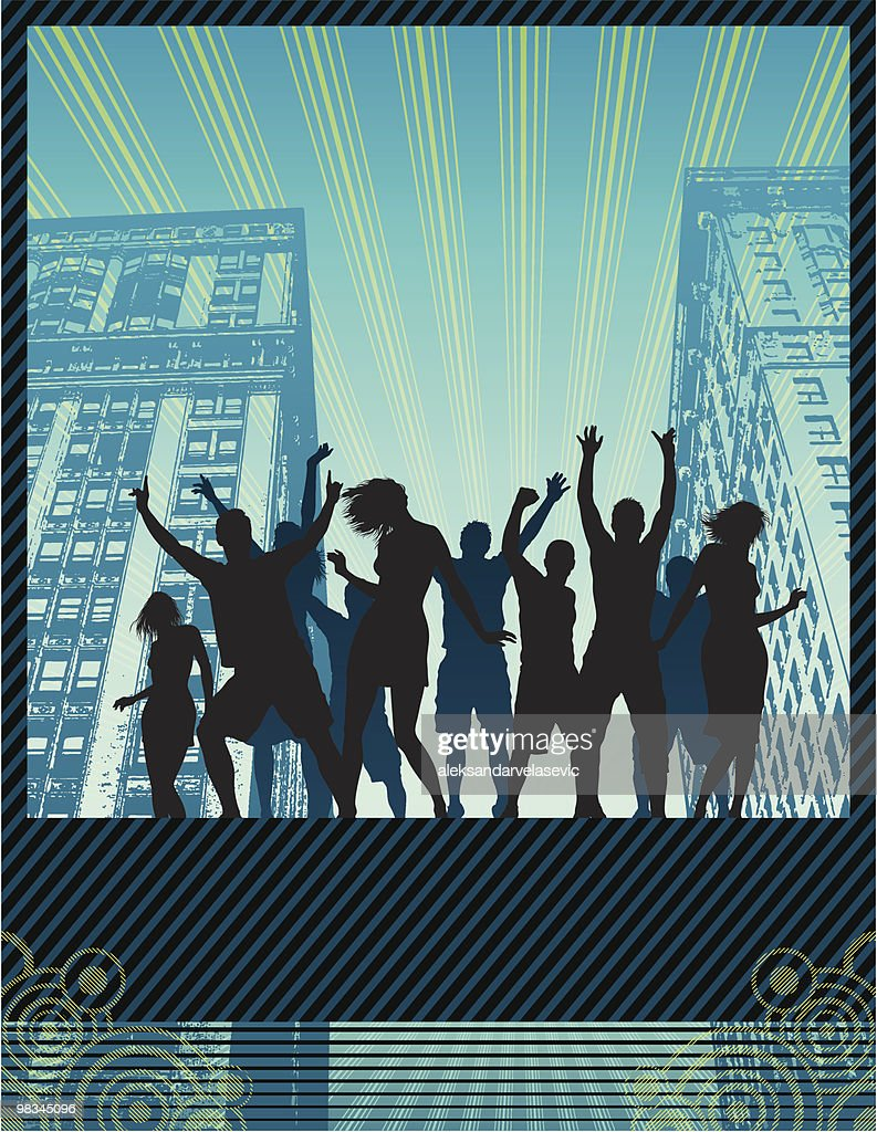 Street party banner : Vector Art