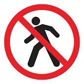 street sign,road sign, crosswalk forbidden