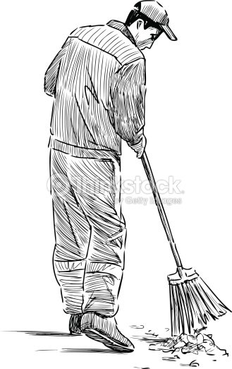 Street Sweeper Stock Vector Thinkstock