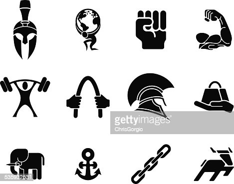 Strength icons : Vector Art