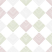 Striped squares on white checkered geometric abstract seamless pattern, vector background