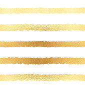 Seamless pattern vector gold foil background. Stripped shiny golden metallic glamour sparkle template for cards, invitations, posters, cards. Vector illustration stock vector.