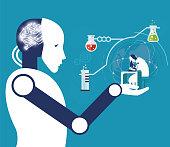 ROBOTS AND MEDICAL STUDY-Illustration