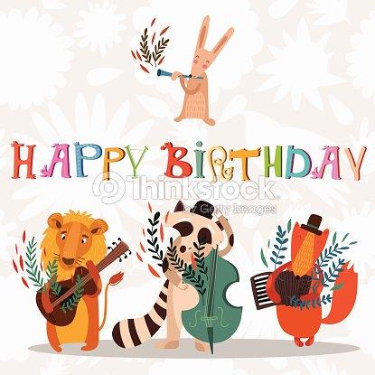 Happy Birthday Cake For Musician