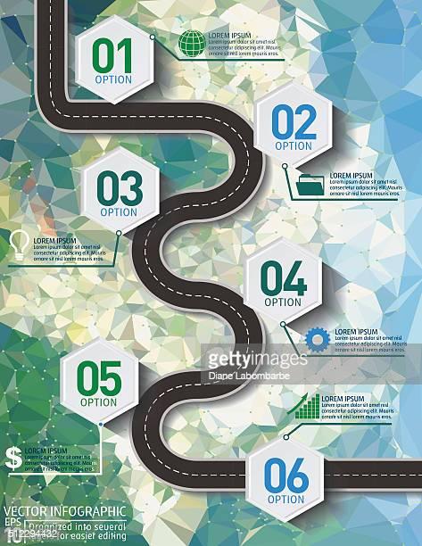 Stilvolle Straßen Infografik auf Zement Textur Hintergrund