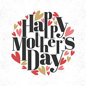Stylish text Happy Mother's Day.